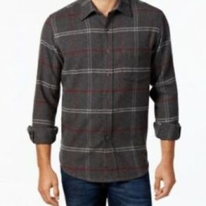 Club Room Men's Long-Sleeve Plaid Shirt Small